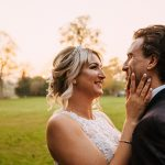 Rugy Wedding photographer, natural wedding photographer, staffordshire wedding photographer, ashton lodge country house, ashton lodge wedding photographer, couple wedding portrait at sun set, wdding dress, sunset photo, wedding portrait, rugby wedding venue,