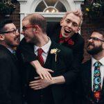 unposed wedding photography, fun groom photo, the barns hotel, cannock wedding photography, bib and tucker photography